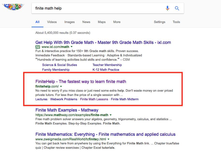 google-finite-math-ranking